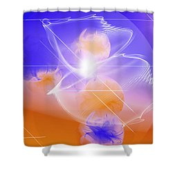 Epiphany Shower Curtain by Ute Posegga-Rudel