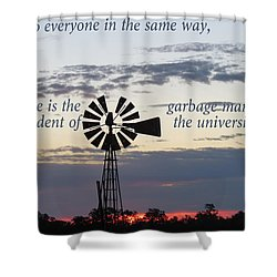 Equal In God's Eye Shower Curtain