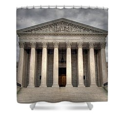 Equal Justice Shower Curtain by Mitch Cat
