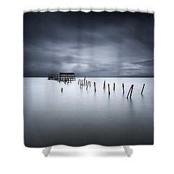 Equilibrium Shower Curtain by Jorge Maia