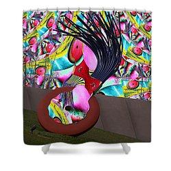 Eraser Shower Curtain by Tim Allen