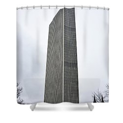 Erastus Corning Tower In Albany New York Shower Curtain by Brendan Reals