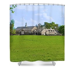 Shower Curtain featuring the photograph Erdenheim Farm - Whitemarsh Montgomery County Pa by Bill Cannon