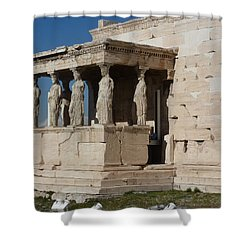 Erechteion With Nike Temple Shower Curtain