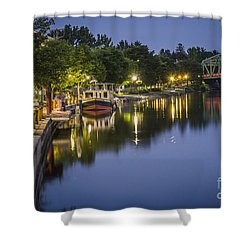 Erie Canal Stroll Shower Curtain