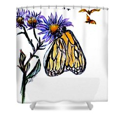 Erika's Butterfly One Shower Curtain by Clyde J Kell