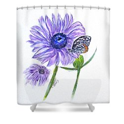Erika's Butterfly Three Shower Curtain by Clyde J Kell