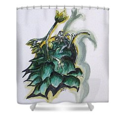Erika's Spring Plant Shower Curtain by Clyde J Kell