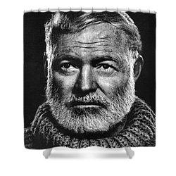 Ernest Hemingway Shower Curtain by Daniel Hagerman