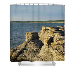 Shower Curtain featuring the photograph Eroded Cliff Formations by Kennerth and Birgitta Kullman