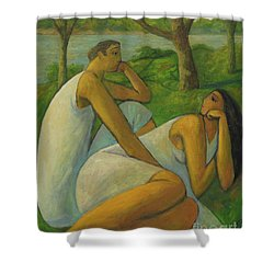Eros And Rhea Shower Curtain