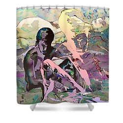 Eroscape 1009 Shower Curtain by Miki De Goodaboom
