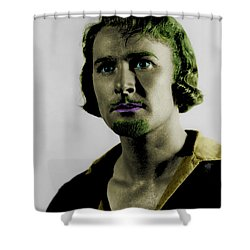 Errol Flynn In Color Shower Curtain by Emme Pons