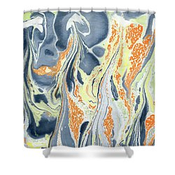 Erupting Lava Shower Curtain by Menega Sabidussi