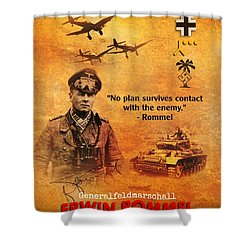 Erwin Rommel Tribute Shower Curtain