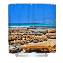 Es Trenc Shower Curtain by Andreas Thust