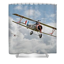 Shower Curtain featuring the photograph Escadrille Lafayette - Hunters by Pat Speirs