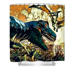 Escape From Jurassic Park Shower Curtain