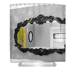 Escape From The Yellow Room Shower Curtain