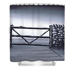Escape Plan Shower Curtain