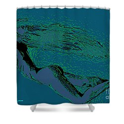 Shower Curtain featuring the painting Escape by Tbone Oliver