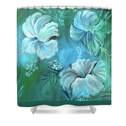Escape To Serenity Shower Curtain by Jenny Lee