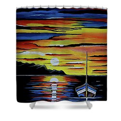 Escape To The Sea Shower Curtain