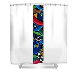 Escape To Venice - Abstract Art Painting, Modern Abstract Eye Art - Ai P. Nison Shower Curtain