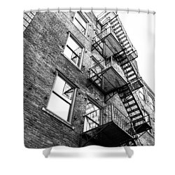 Shower Curtain featuring the photograph Escape by Wade Brooks
