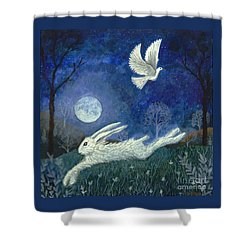 Escape With A Blessing Shower Curtain by Lise Winne