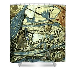 Escaping The Whirlwind Shower Curtain