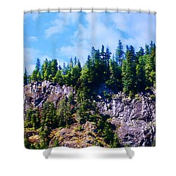 Shower Curtain featuring the photograph Escarpment 2 by Timothy Bulone