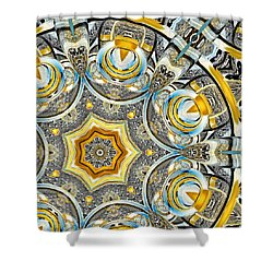 Shower Curtain featuring the digital art Escher Glass Kaleido Abstract #1 by Peter J Sucy