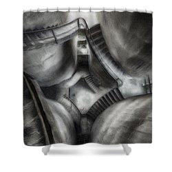 Escher Stairwell Shower Curtain