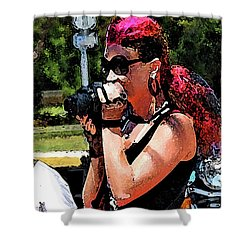 Escorted Bike Ride  Shower Curtain