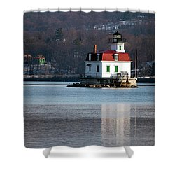 Esopus Lighthouse In December Shower Curtain by Jeff Severson