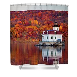 Esopus Lighthouse In Late Fall #1 Shower Curtain