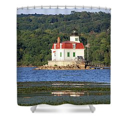 Shower Curtain featuring the photograph Esopus Lighthouse In Summer #4 by Jeff Severson