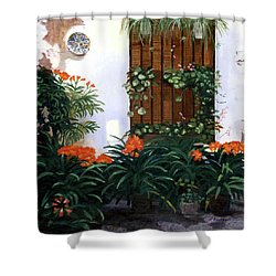 Shower Curtain featuring the painting Espana by Lynne Reichhart