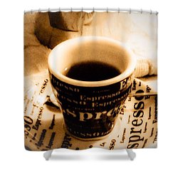 Espresso Anyone Shower Curtain by MaryLee Parker