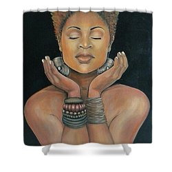 Essential Essence Shower Curtain by Jenny Pickens