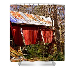 Est. 1909 Campbell's Covered Bridge Shower Curtain