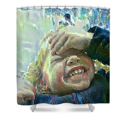 Esther, What Is So Funny? Shower Curtain by MendyZ
