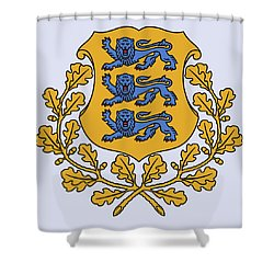 Estonia Coat Of Arms Shower Curtain by Movie Poster Prints