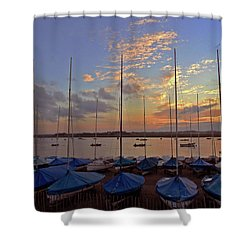 Shower Curtain featuring the photograph Estuary Evening by Anne Kotan