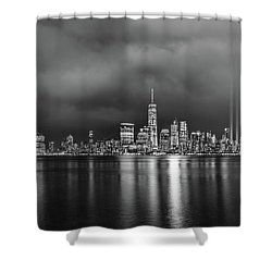 Etched Into The Sky Shower Curtain
