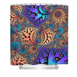 Etched Leaves Shower Curtain by John Edwards