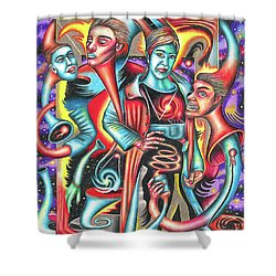 Eternal Discord Of Entwined Temptations Shower Curtain
