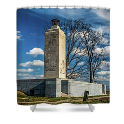 Shower Curtain featuring the photograph Eternal Light Peace Memorial by Nick Zelinsky