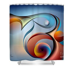Eternal Movement - Wrapping Shower Curtain
